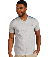 Fred Perry - V-Neck w/ Tartan Trim