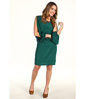 Nicole Miller - Dolman Sleeve Silk Dress With Slit Accents