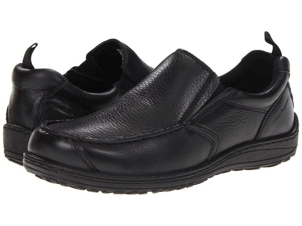 Hush Puppies - Belfast Slip On MT (Black Leather) Men