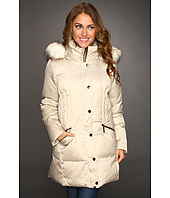 Hilary Radley Studio - Down Jacket w/ Faux Fur Trim Hood