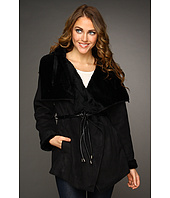 Hilary Radley Studio - Faux Shearling Belted Jacket