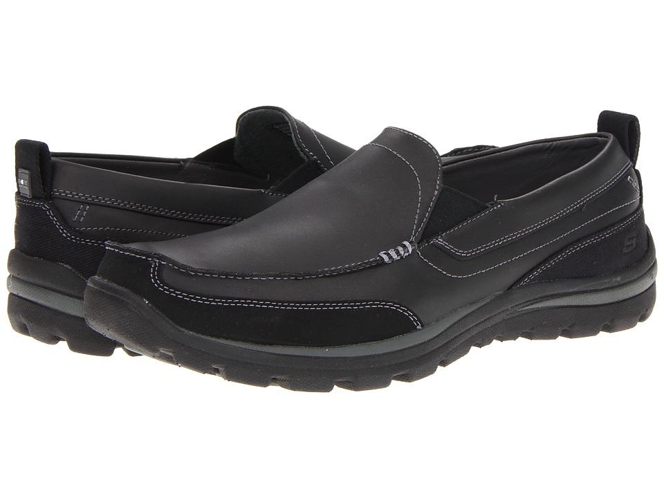 Skechers Relaxed Fit Superior - Gains (Black) Men's Slip ...