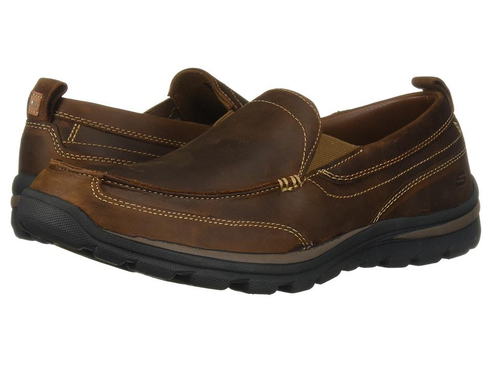 Skechers Relaxed Fit Superior - Gains (Dark Brown) Men's ...