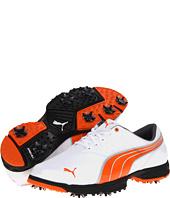 Puma Amp Sport Men's Golf Shoes (White/Vibrant Orange, 11, Medium