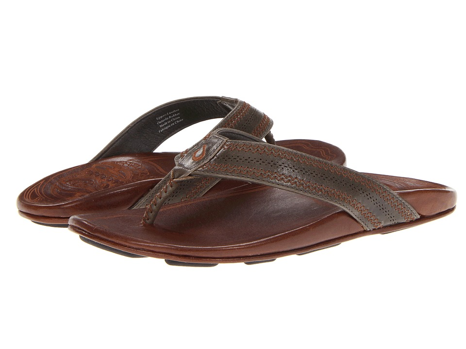 OluKai - Po Okela (Charocal/Dark Java) Mens Sandals