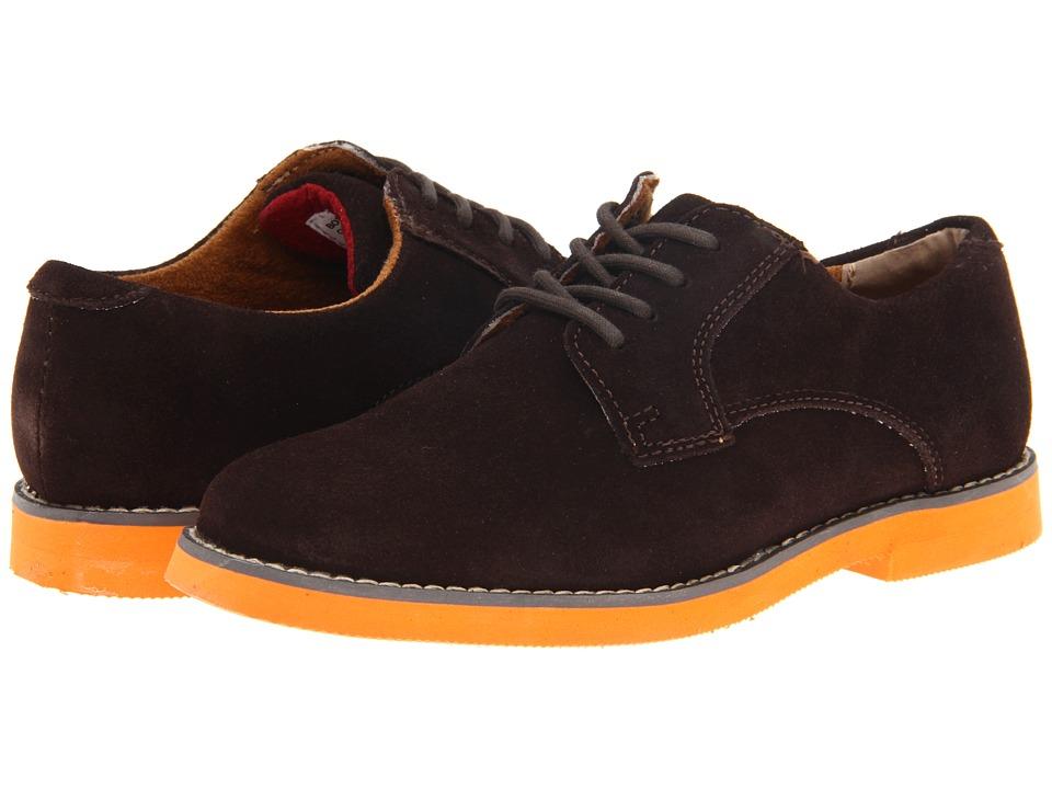 Florsheim Kids - Kearny Jr. (Toddler/Little Kid/Big Kid) (Brown/Orange Sole) Boys Shoes