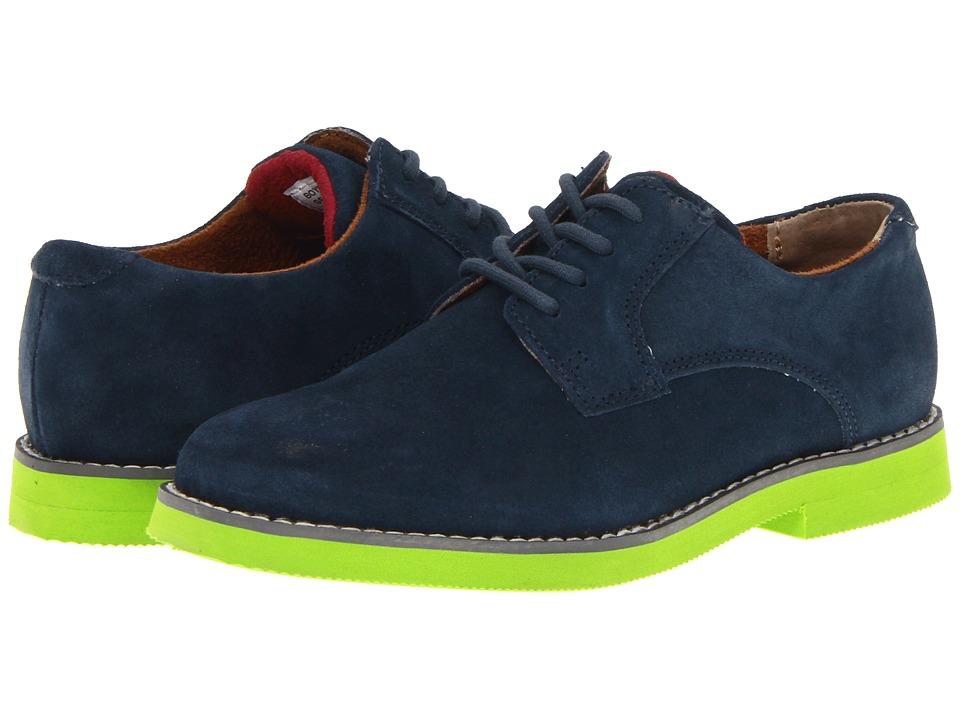 Florsheim Kids - Kearny Jr. (Toddler/Little Kid/Big Kid) (Navy/Lime Sole) Boys Shoes