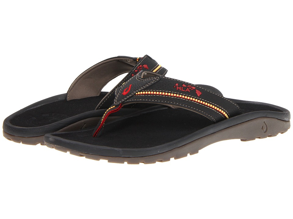 OluKai - KiaI II (Black/Black) Mens Sandals