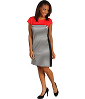 Jessica Howard - Cap Sleeve Shift Dress w/ Framed Side Panels