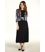 Jessica Howard - Sleeveless Ruched Waist Dress w/ 3/4 Sleeve Crop Jacket