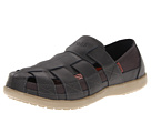 Crocs - Santa Cruz Fisherman Sandal (Black/Khaki) Sandal