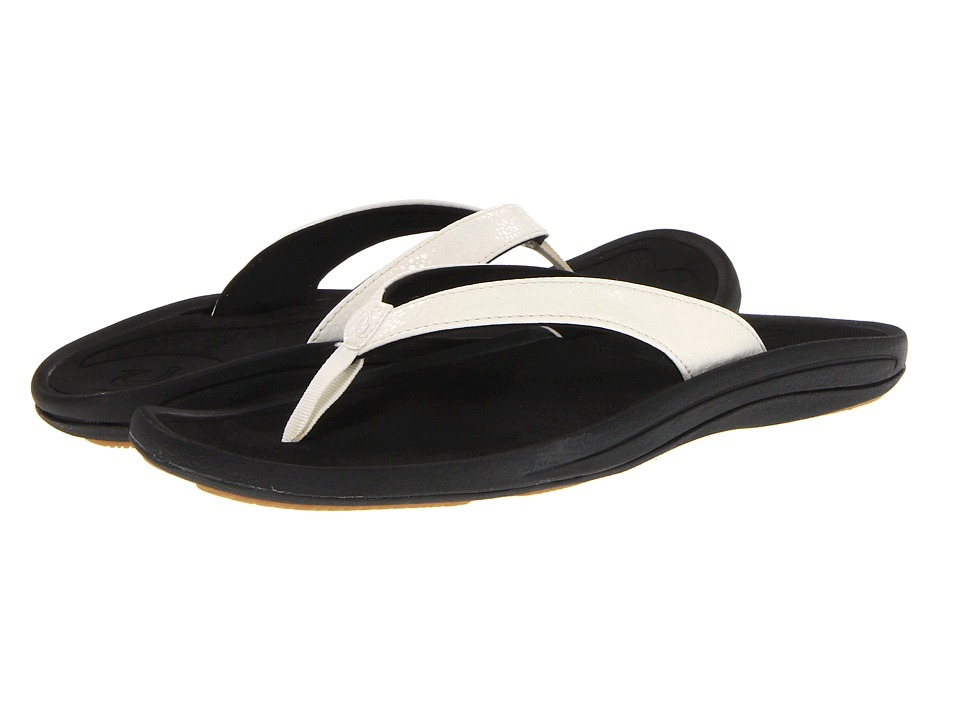 OluKai Kulapa Kai W (White/Black) Sandals