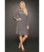 Eliza J - L/S Solid Shirt Dress w/Belt