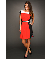 Eliza J - Jewel Neckline Colorblocked Dress