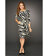 Eliza J - 3/4 Sleeve Side Ruched Dress