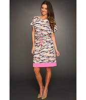 Eliza J - Multi Print Dress w/Contrast Hem