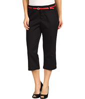 Dockers Petite - Petite Belted Capri w/ Hello Smooth