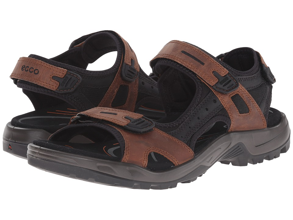 ECCO Sport - Yucatan Sandal (Bison/Black/Black) Mens Toe Open Shoes