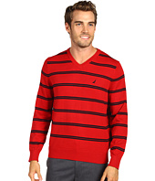 Nautica - V-Neck Stripe Sweater