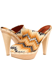 Missoni - Classic Flame Stitch Wooden Mule