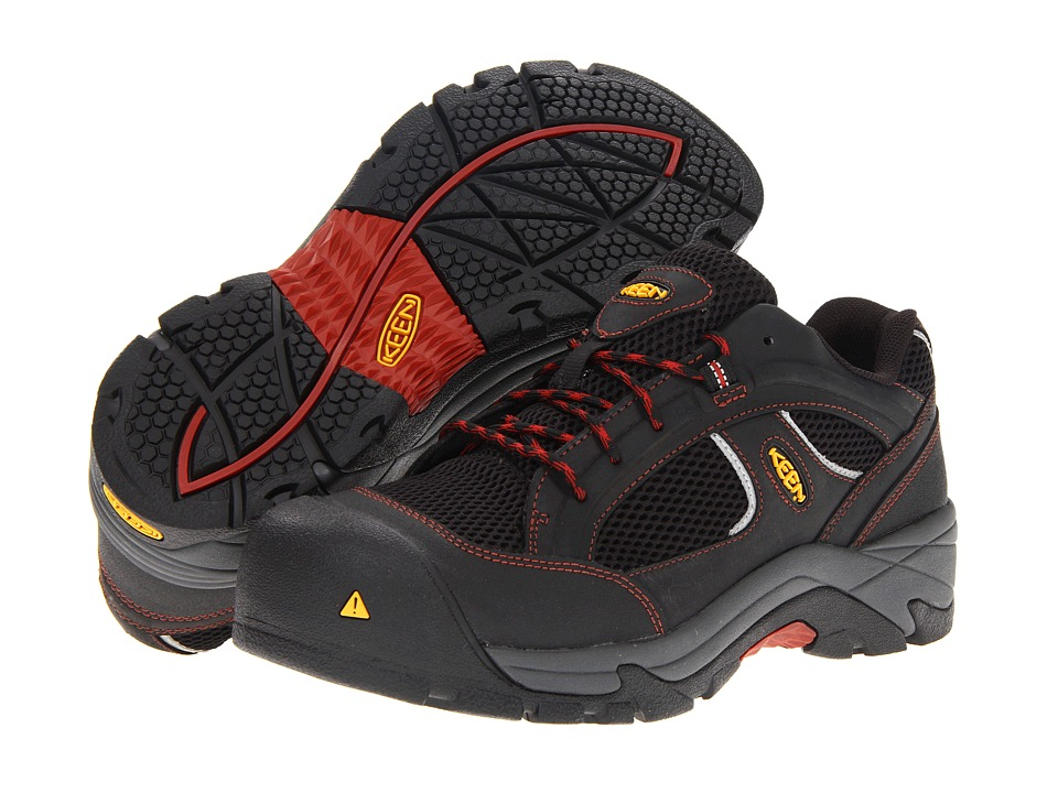 Keen Utility Albany Black/Bossa Nova Mens Work Lace up Boots