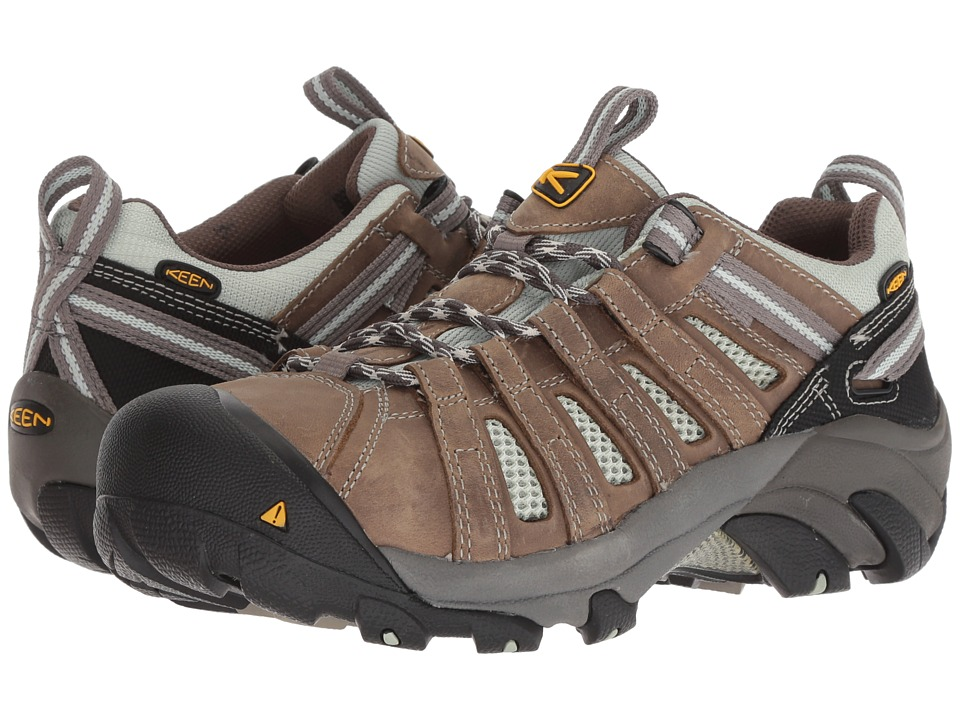 Keen Utility Flint Low (Drizzle/Surf Spray) Women's Work Lace-up Boots