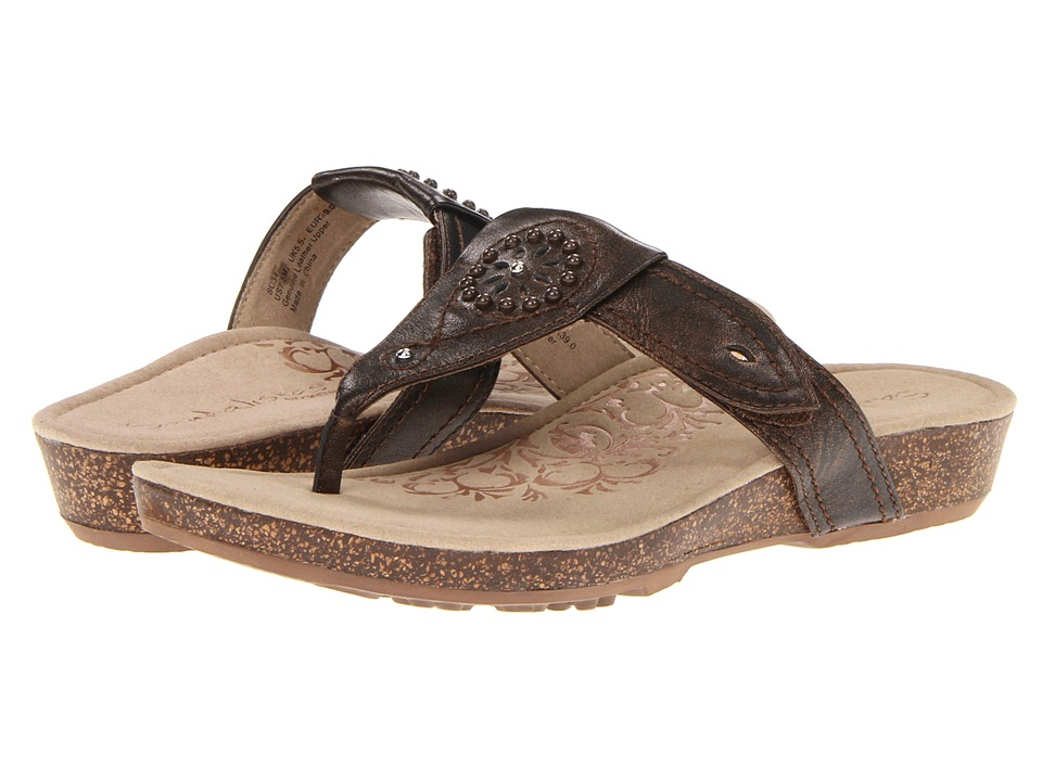 Aetrex Emily Sandalistas Lynco Footbed Bronze Womens Sandals