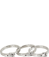 Michael Kors - Buckle Set of 3 Skinny Rings