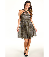 Muse - Shimmery Twisted Front Neck Dress