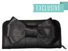 Harveys Seatbelt Bag Bow Clutch Wallet (Black)
