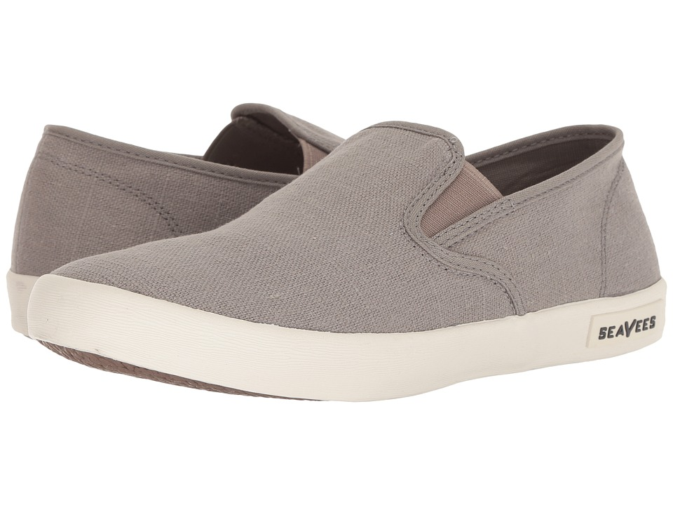 SeaVees 02/64 Baja Slip on Standard Tin Grey Vintage Wash Linen Mens Shoes