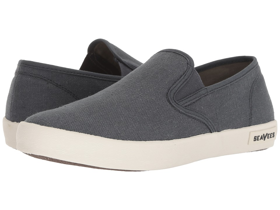 SeaVees - 02/64 Baja Slip-on Standard (Slate Navy Vintage Wash Linen) Men
