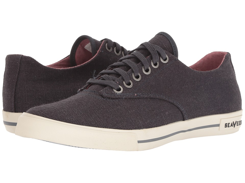 SeaVees - 08/63 Hermosa Plimsoll Core (Slate Navy Vintage Wash Linen) Mens Lace up casual Shoes