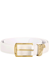 Versace Collection - Printed Elk Gold Medusa Buckle Belt