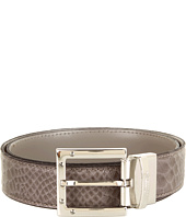 Cheap Versace Collection Reversible Printed Python Belt Grey