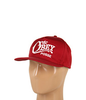 Cheap Obey Quality Delivery Snapback Hat Burgundy
