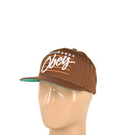 Cheap Obey Sidelines Snapback Hat Brown
