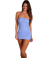 Juicy Couture - Button Bandeau Swimdress w/ Removable Soft Cups