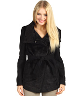 Betsey Johnson - Mixed Media Jacket w/ Faux Fur