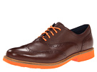 Cole Haan - Great Jones Wingtip (Chestnut/Chestnut Grain/Corporate Orange) - Footwear