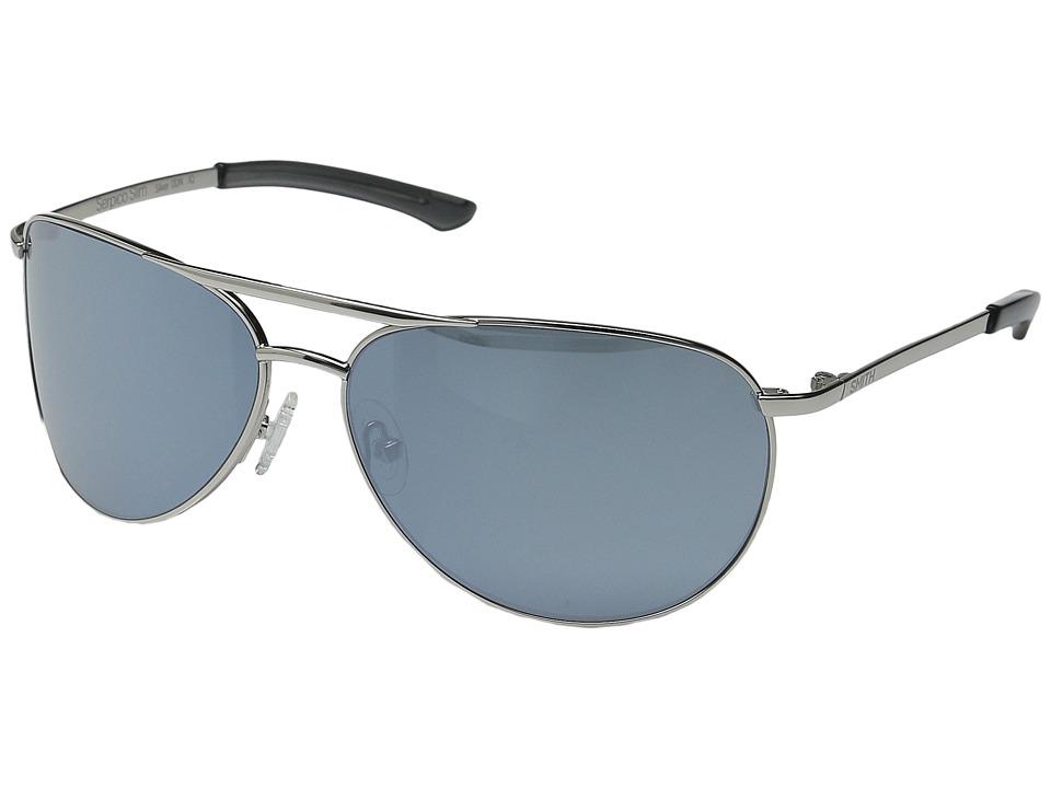 Smith Optics Serpico Slim Silver/Platinum Lens Athletic Performance Sport Sunglasses