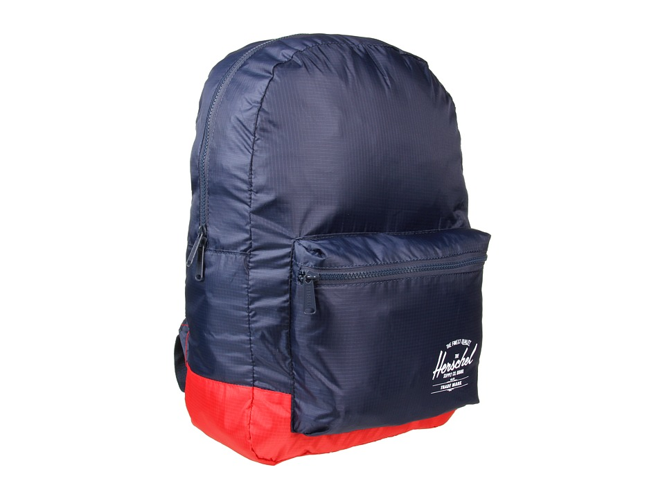 Herschel Supply Co. - Packable Daypack (Navy/Red) Backpack Bags