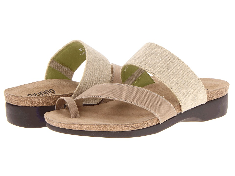 Munro American Aries Natural Fabric Womens Sandals