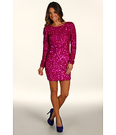 ABS Allen Schwartz - L/S Open Back Sequin Dress