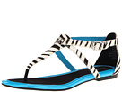 Sperry Top-Sider - Summerlin (Black/White Zebra/Neon Blue) - Footwear