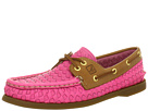 Sperry Top-Sider - A/O 2 Eye (Hot Pink Woven/Cognac)