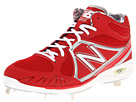 New Balance MB3000 Metal Mid Cut Cleat Red, White Shoes