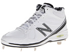 New Balance MB3000 Metal manufactured Mid Cut Cleat White, Black Shoes