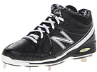 New Balance MB3000 Metal manufactured Mid Cut Cleat Black, White Shoes