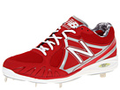 New Balance MB3000 Metal Low Cut Cleat Red, White Shoes